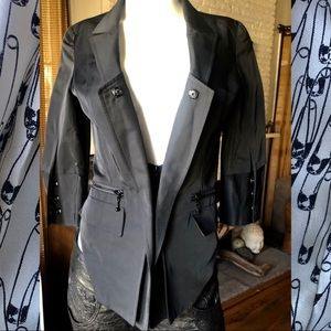 Thomas Wylde black Cropped Tuxedo Blazer